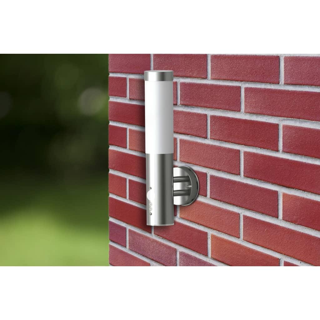 Venkovní nástěnné svítidlo s pohybovým čidlem z nerezové oceli