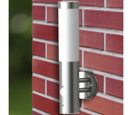 vidaXL Lámpara de pared exterior detector movimiento acero inoxidable[5/7]