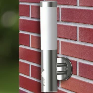 vidaXL Φωτιστικό Τοίχου Εξωτερικού Χώρου με Αισθητήρα από Ανοξ. Ατσάλι[5/7]
