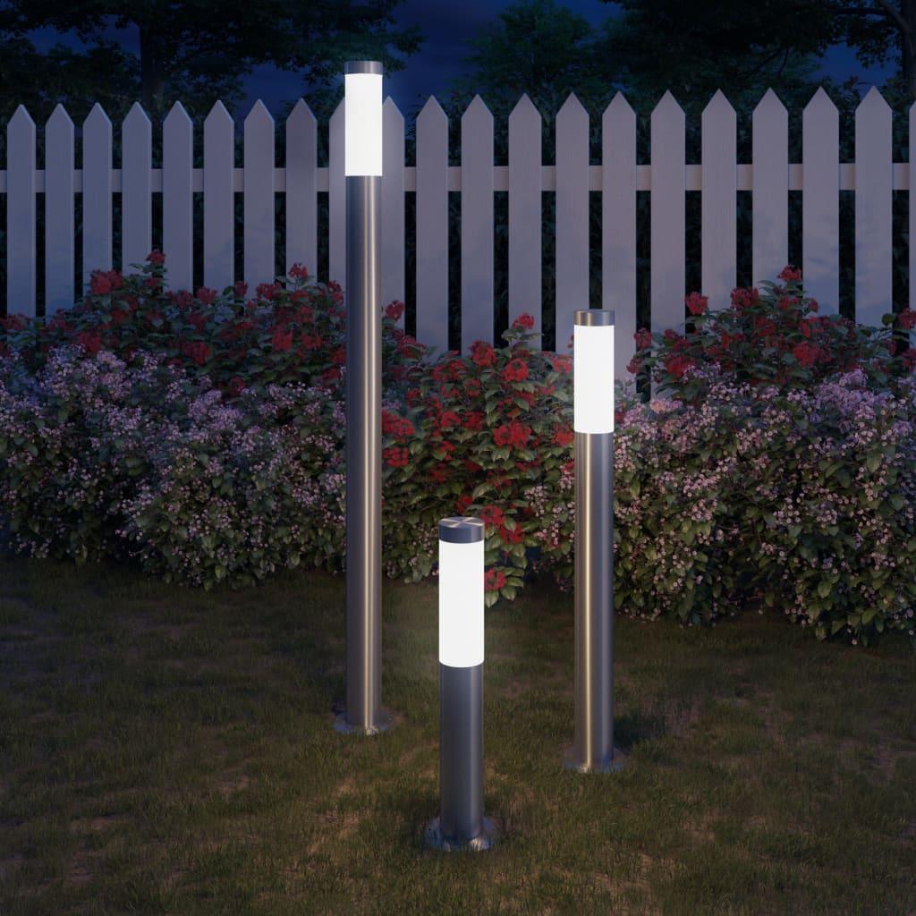 3-delige Tuinlampenset waterdicht roestvrij staal