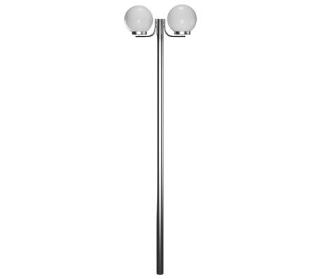 Lampa, latarnia ogrodowa, stojąca (220 cm) z dwoma kloszami[3/5]