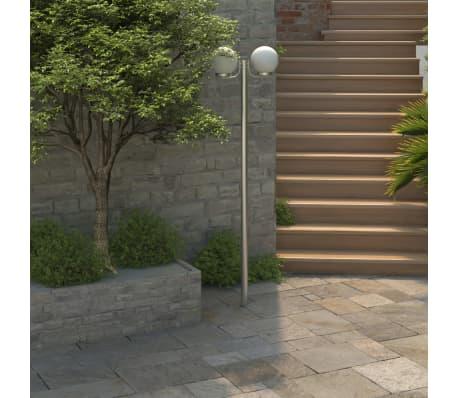 Lampa, latarnia ogrodowa, stojąca (220 cm) z dwoma kloszami[1/5]