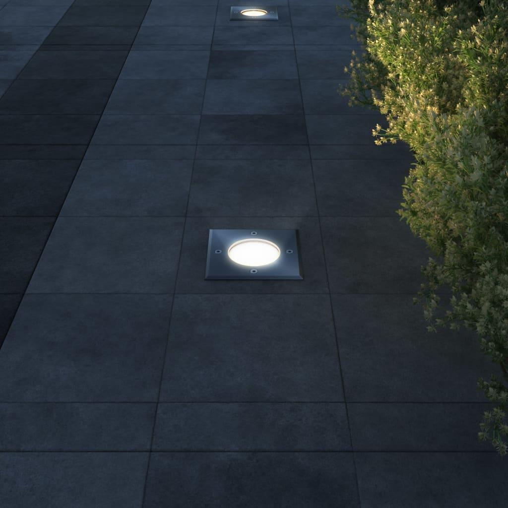Zahradní zemní svítidla 3 ks čtvercová
