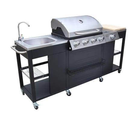 outdoor kitchen barbecue montana 4 burners vidaxl co uk