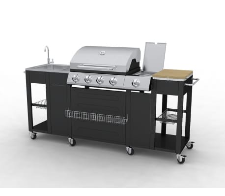 Barbecue Esterno Cucina a Gas Completa Acciaio 4 Bruciatori con ...
