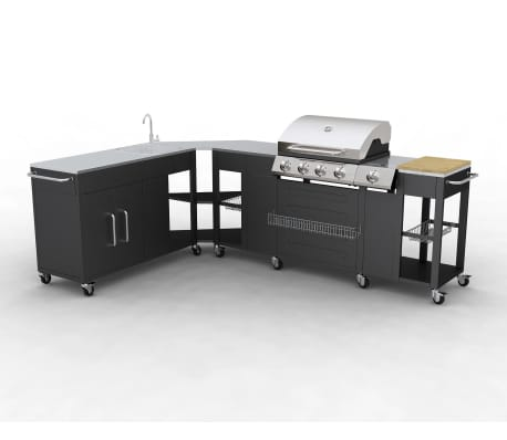 Outdoor Kitchen Barbecue Missouri 4 Burners
