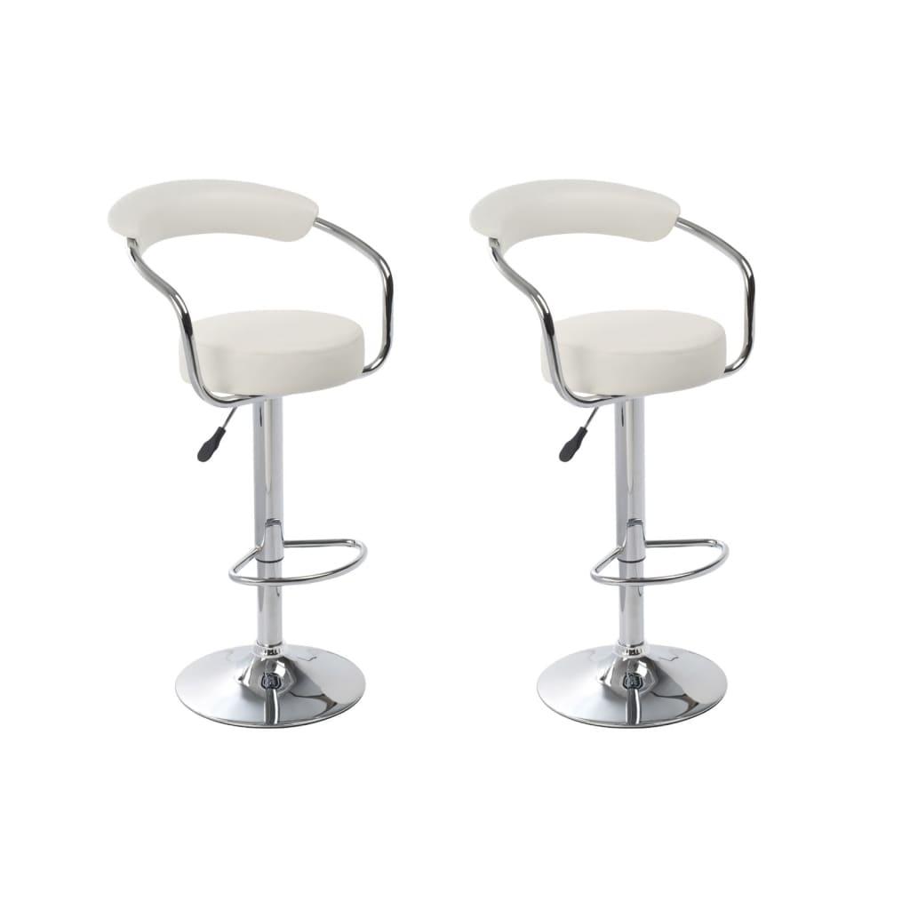 Barové židle Daytona bílé (sada 2 ks)
