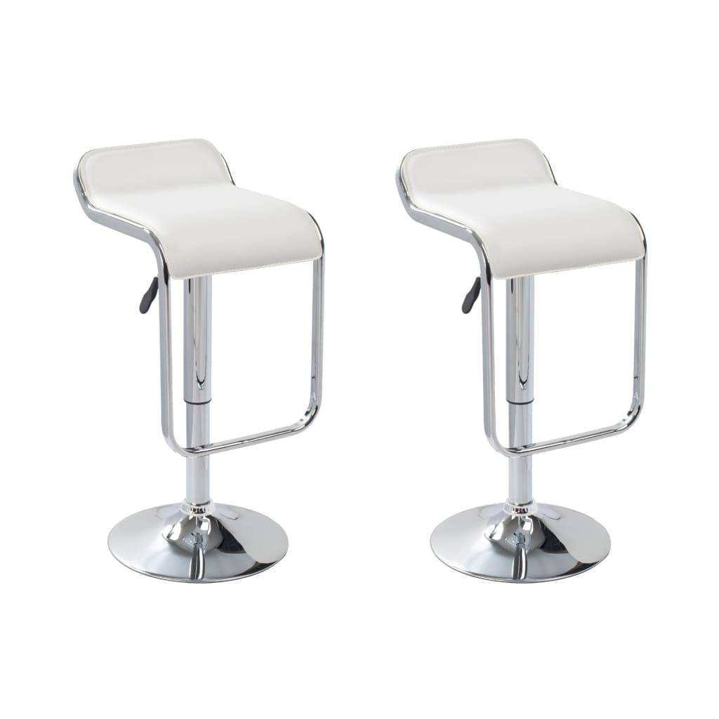 2 Barové židle bílé Styl Swerve