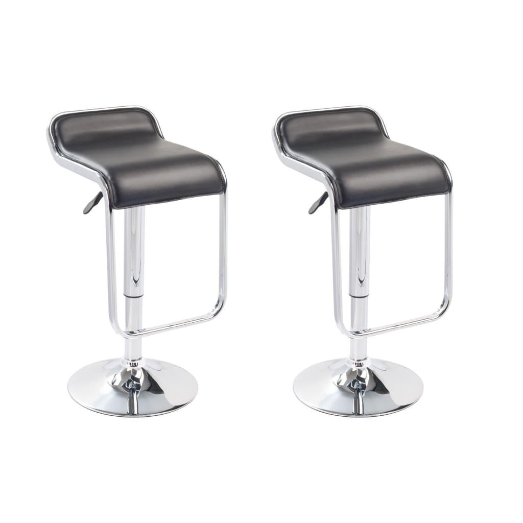 vidaXL Barové stoličky 2 ks černé