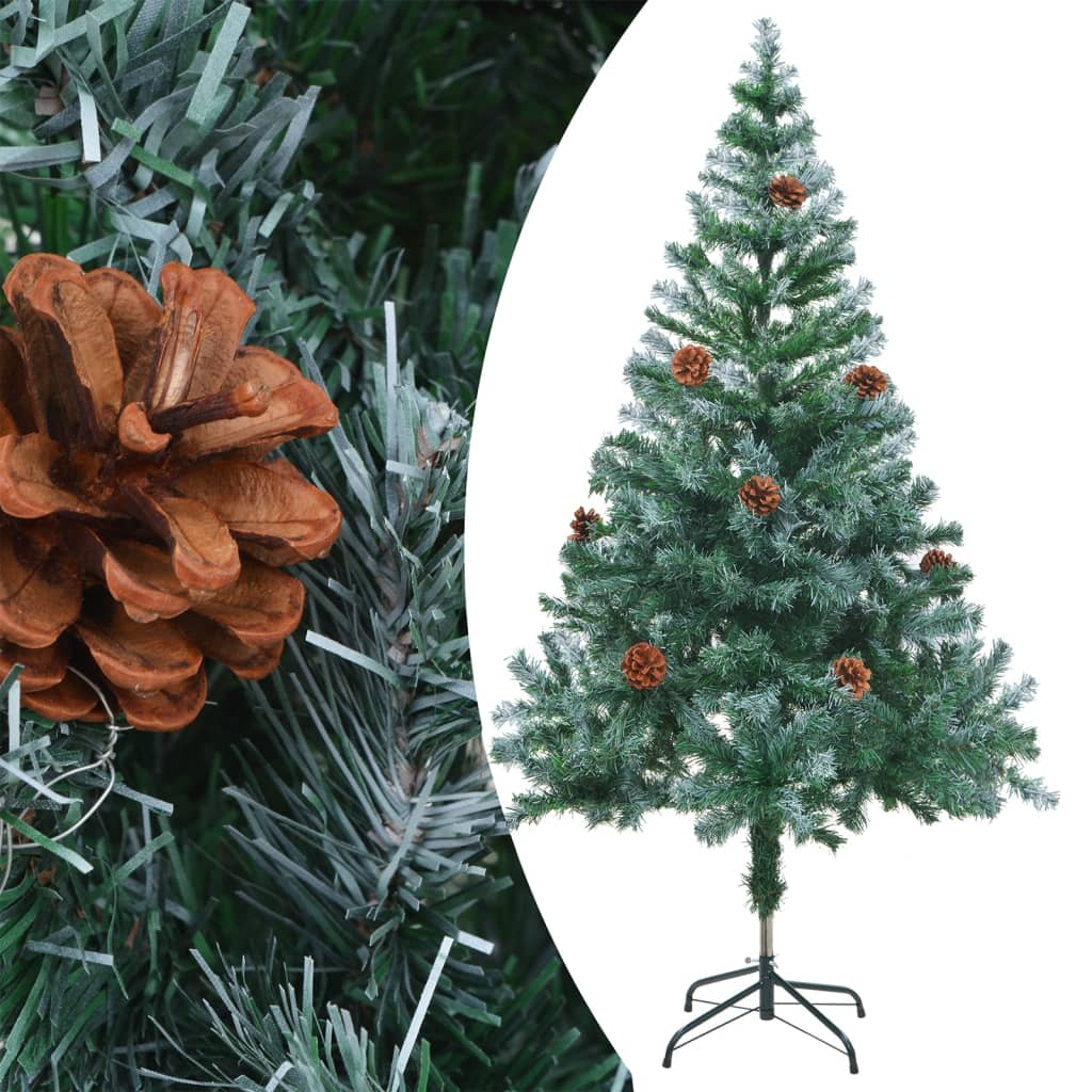 Brad de Crăciun artifcial cu conuri 150 cm vidaxl.ro