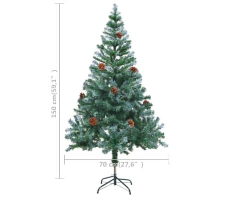vidaxl k nstlicher weihnachtsbaum mit tannenzapfen gefrostet 150 cm g nstig kaufen. Black Bedroom Furniture Sets. Home Design Ideas