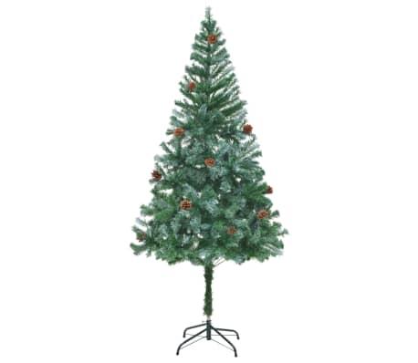 vidaxl k nstlicher weihnachtsbaum mit tannenzapfen 180 cm. Black Bedroom Furniture Sets. Home Design Ideas