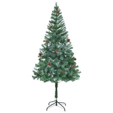 vidaXL kunstigt juletræ med grankogler 180 cm[1/7]