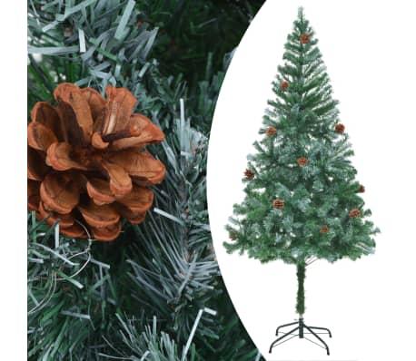 vidaXL kunstigt juletræ med grankogler 180 cm[2/7]