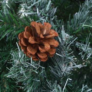 vidaXL kunstigt juletræ med grankogler 180 cm[5/7]