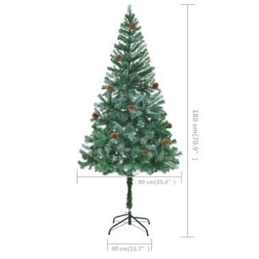 vidaXL kunstigt juletræ med grankogler 180 cm[7/7]