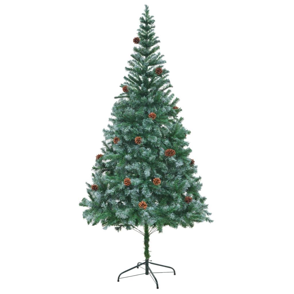 Brad de Crăciun artifcial cu conuri 210 cm vidaxl.ro