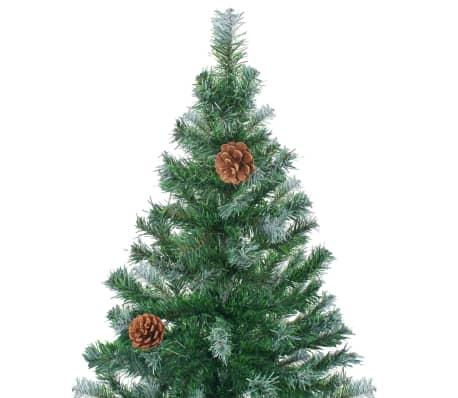 vidaxl k nstlicher weihnachtsbaum mit tannenzapfen 210 cm g nstig kaufen. Black Bedroom Furniture Sets. Home Design Ideas