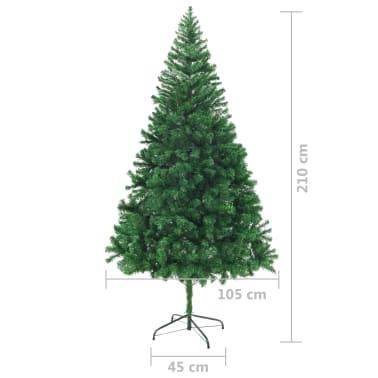 vidaXL Kunstkerstboom met dikke takken 210 cm[6/6]