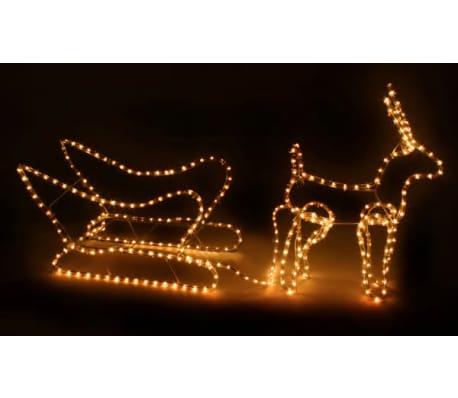 Weihnachtsbeleuchtung Schlitten.Vidaxl Weihnachtsbeleuchtung Schlitten Mit Rentier