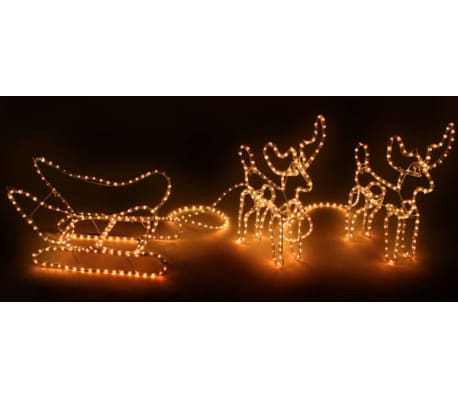 Weihnachtsbeleuchtung Schlitten.Vidaxl Weihnachtsbeleuchtung Schlitten Mit 2 Rentieren