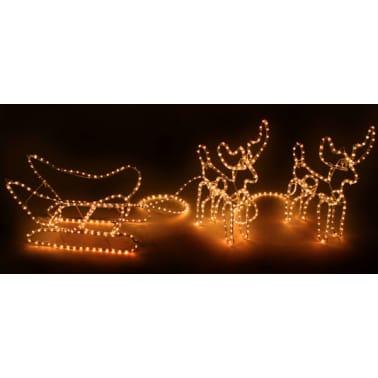 Rendier lichtslang met slee 310x55 cm online kopen | vidaXL.nl