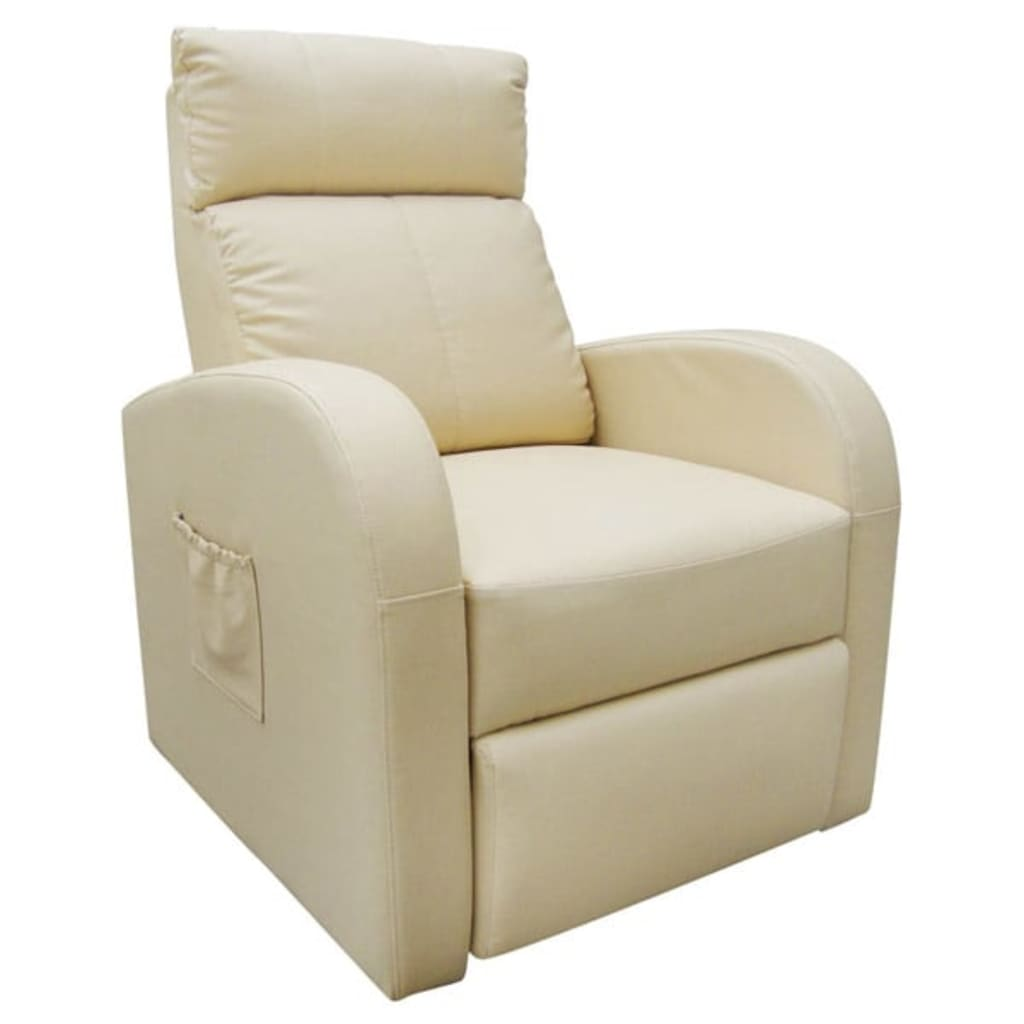 Afbeelding van vidaXL Massagefauteuil met verwarming en afstandsbediening crème