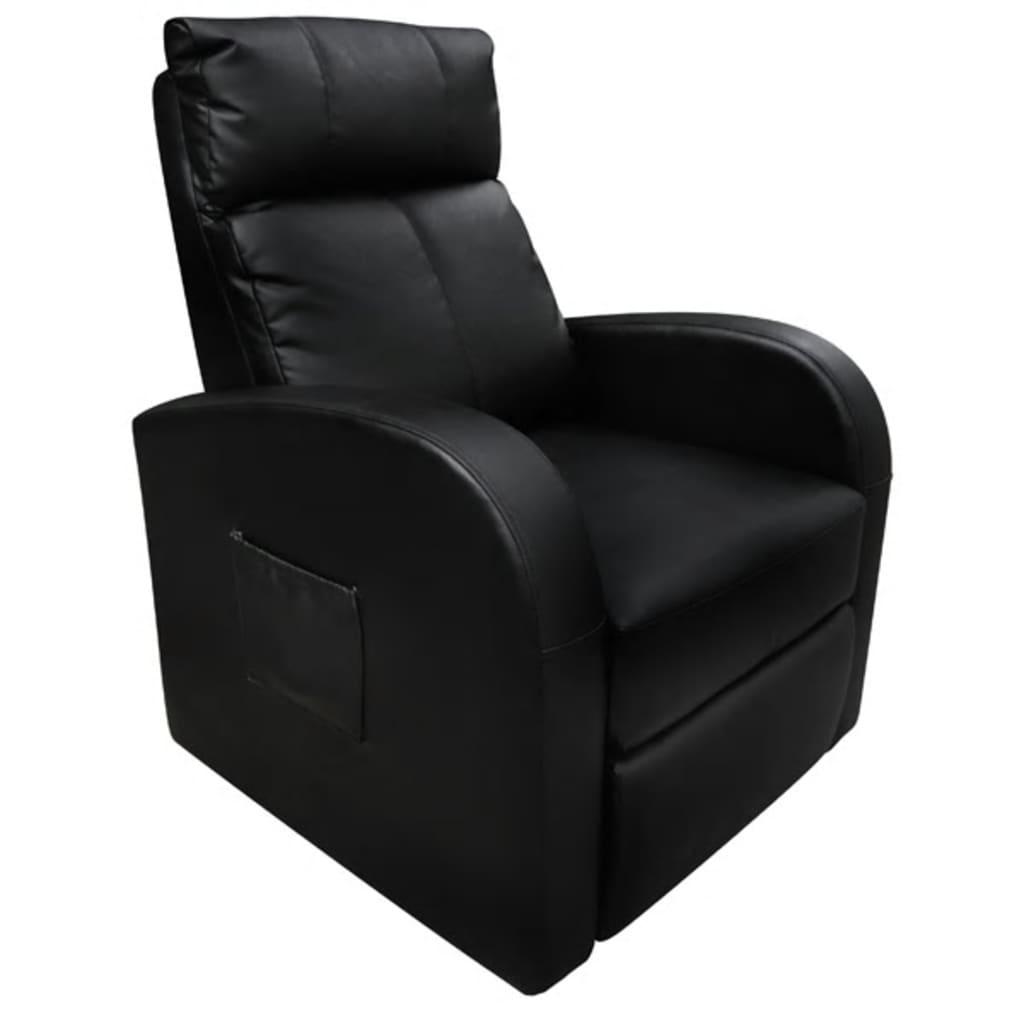 Afbeelding van vidaXL Massagefauteuil met verwarming en afstandsbediening zwart