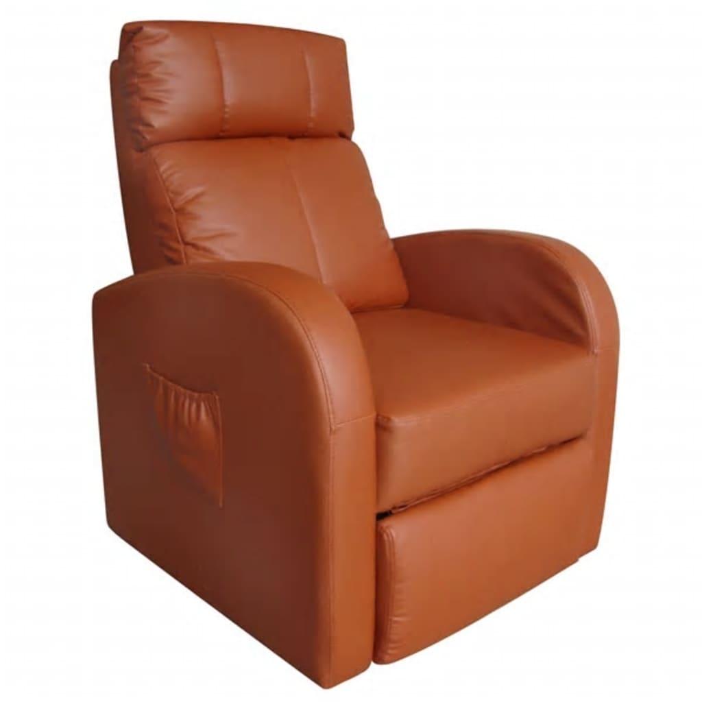 Afbeelding van vidaXL Massagefauteuil met verwarming en afstandsbediening bruin