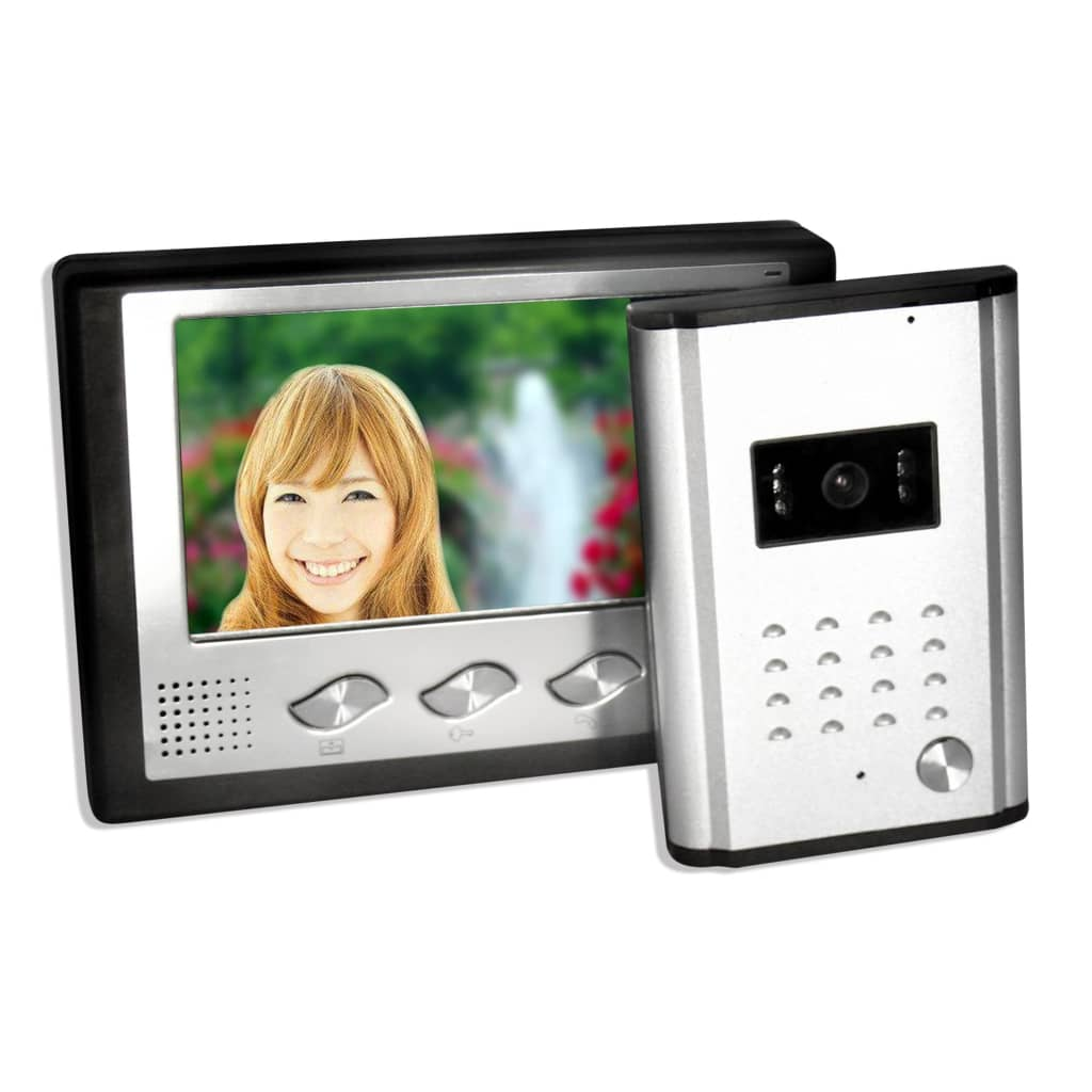 Afbeelding van vidaXL Deurtelefoon inclusief camera en 7 inch kleurenscherm