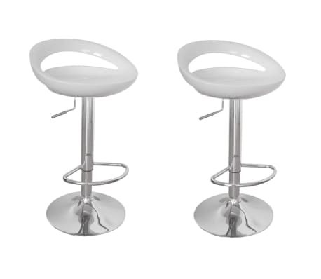 Sgabelli cucina o bar Maiorca design plastica ABS, 2,bianchi | vidaXL.it