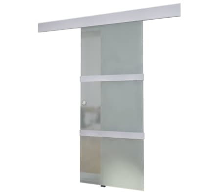 vidaXL Sliding Door Glass and Aluminium 178 cm Silver