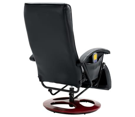 vidaXL Električni masažni stol umetno usnje črne barve[6/6]