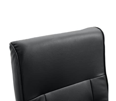 vidaXL Električna Masažna Fotelja Umjetna Koža Crna[7/7]