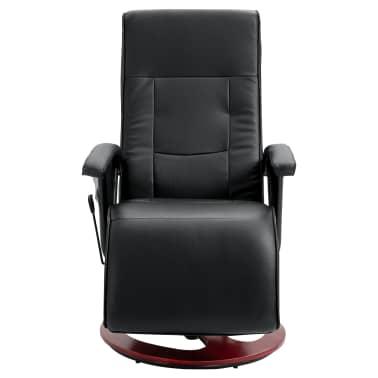 vidaXL Električni masažni stol umetno usnje črne barve[3/6]