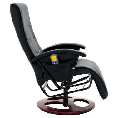 vidaXL Električni masažni stol umetno usnje črne barve[4/6]