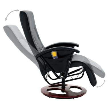 vidaXL Električni masažni stol umetno usnje črne barve[5/6]