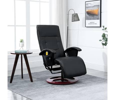 vidaXL Fauteuil de massage Noir Similicuir[1/11]