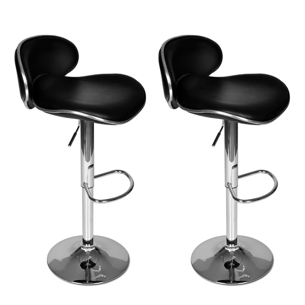 vidaXL Barové židle 2 ks černé