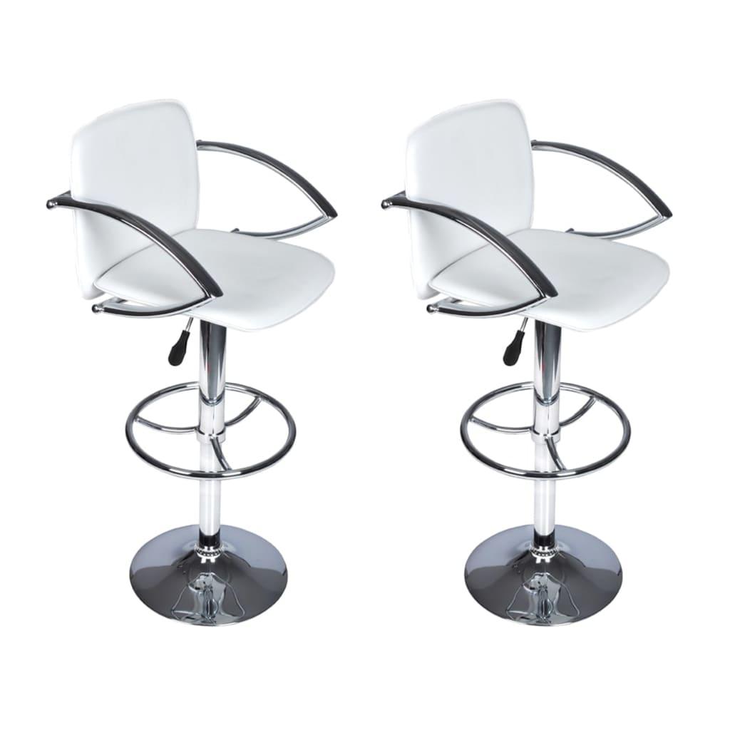 vidaXL Barové židle 2 ks bílá
