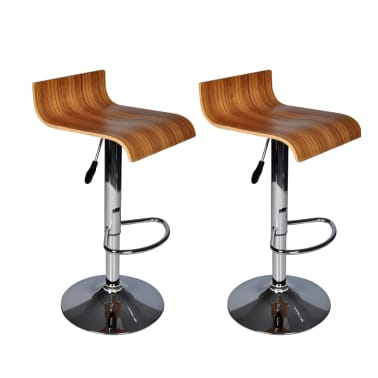 Two Contemporary Wooden Bar Stools[1/7]
