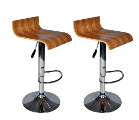 Two Contemporary Wooden Bar Stools [1/1]