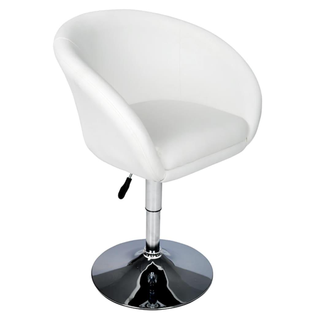 vidaXL Barová židle, umělá kůže, bílá