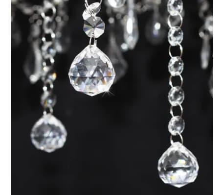 Chandelier Maria Theresa 6-arm m. Hvide lampeskærme[3/8]
