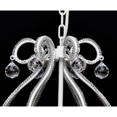 Lustre néo baroque plafonnier 6 feux 2300 pampilles cristal[4/8]
