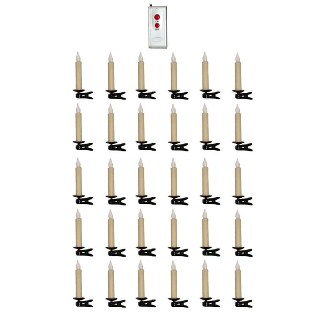 Afbeelding van vidaXL Kerstverlichting 30 draadloze kerstboom lampjes