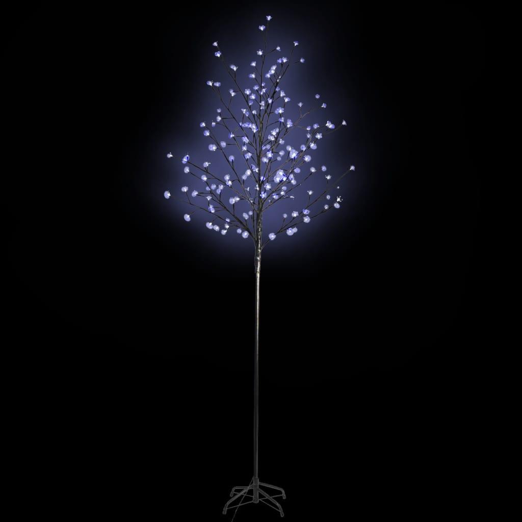 Instalație cireș cu LED-uri 180 cm Albastru poza 2021 vidaXL