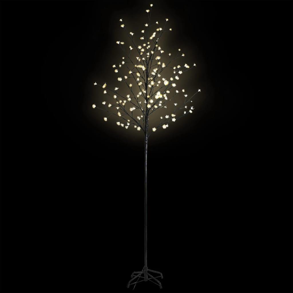 vidaXL Pom Crăciun, LED-uri lumină albă caldă, flori de cireș, 180 cm vidaxl.ro