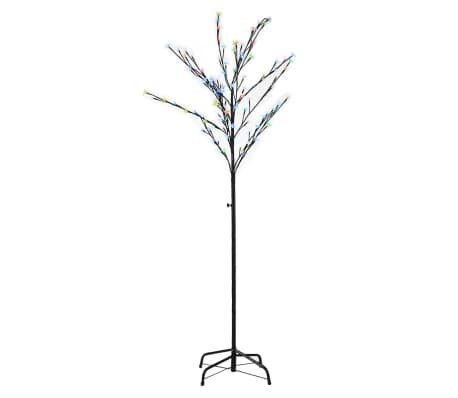 vidaXL Arbre de décoration LED Multicolore 180 cm[2/2]