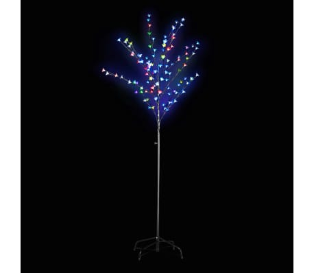 vidaXL Arbre de décoration LED Multicolore 180 cm[1/2]